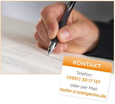 Hand-schreibt-Texte-Kontakt